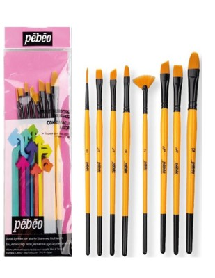 PEBEO - Pebeo Çok Amaçlı Fırça Seti - Karma 8li Fırça Seti - Set 7
