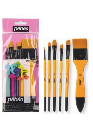 PEBEO - Pebeo Çok Amaçlı Fırça Seti - Karma 6lı Fırça Seti - Set 8