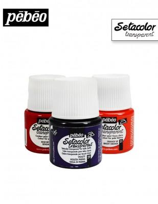 PEBEO - Pebeo Setacolor - Kumaş Boyası - Transparan Renkler - 45 ml