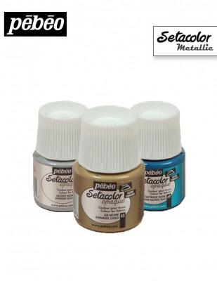 PEBEO - Pebeo Setacolor - Kumaş Boyası - Metalik Renkler - 45 ml