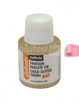 PEBEO - Pebeo Simli Kumaş Boyası - Gold Glitter - 110 ml