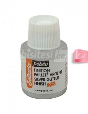 PEBEO - Pebeo Simli Kumaş Boyası - Silver Glitter - 110 ml