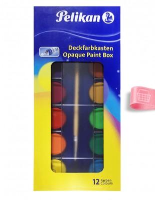 PELİKAN - Pelikan Opak Suluboya Seti - 12 Renk
