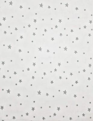 - Penye Kumaş - Yıldız Desenli - En 180 cm - Gri