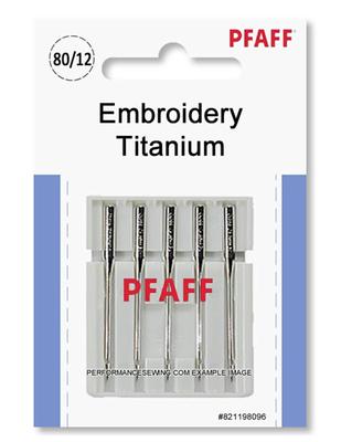 PFAFF - Pfaff Titanyum Nakış İğneleri - No 12 - 5 Adet / Paket - 821198096