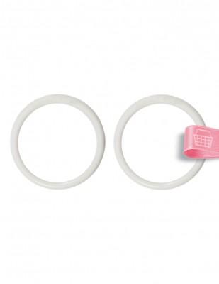 - Plastik Halka - Beyaz - Çap : 8 cm - 2 Adet