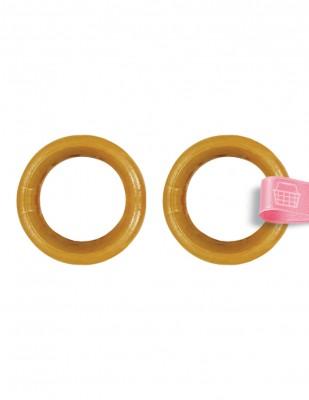 - Plastik Halka - Kahverengi - Çap : 5 cm - 2 Adet