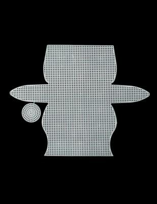 - Plastik Kanvas - Çanta - 15,5 x 23 cm