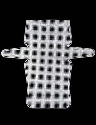 - Plastik Kanvas - Çanta - 16,5 x 33 cm