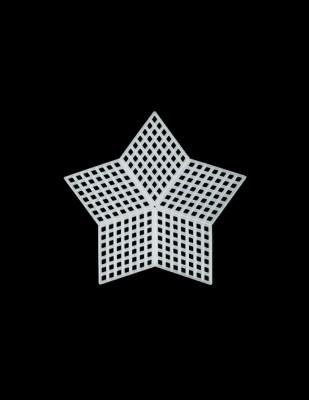 - Plastik Kanvas - Yıldız - 7,5 x 7,5 cm