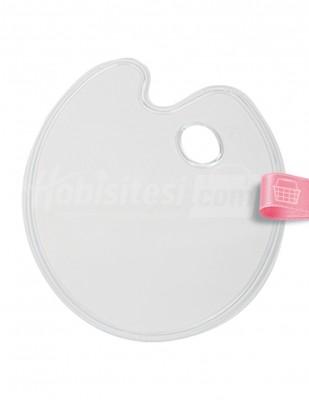 - Plastik Palet - Düz Şeffaf - 28 x 22 cm
