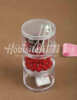 - Plastik Saklama Kabı - 3 'lü - Herbiri 70 x 45 mm