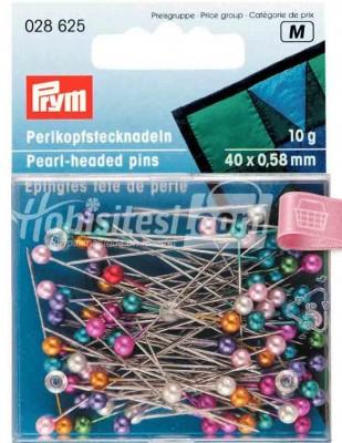 PRYM - Prym Toplu İğne - Karışık Renk Boncuk Başlı - 10 gr - 028625