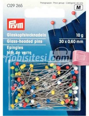 PRYM - Prym Toplu İğne - Karışık Renk Cam Boncuk Başlı - 29265