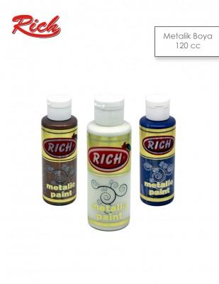 RICH - Rich Akrilik Boya - Metalik Renkler - 120 cc