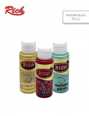 RICH - Rich Akrilik Boya - Metalik Renkler - 70 cc
