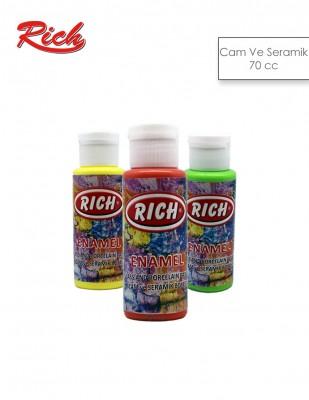 RICH - Rich Enamel Cam ve Seramik Boyası - 70 cc