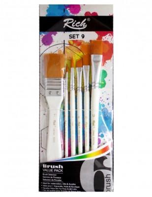 - Rich Fırça Seti - 6lı Karışık Fırça Seti - Set 9