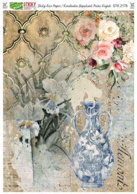 Rich Kendinden Yapışkanlı Pirinç Kağıdı - 29 x 42 cm - 2178
