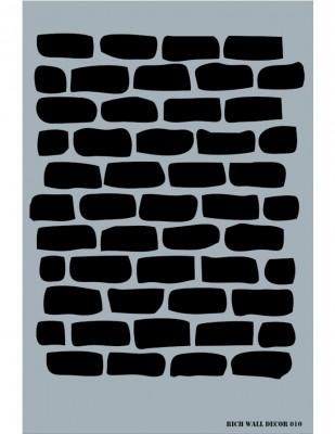 RICH - Rich Stencil - 50 x 70 cm - Wall Decor 010