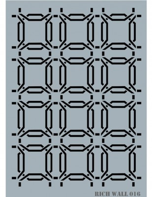 RICH - Rich Stencil - 50 x 70 cm - Wall Decor 016