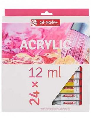 ROYAL TALENS - Royal Talens Art Creation Akrilik Boya Seti - 12 ml - 24 Renk