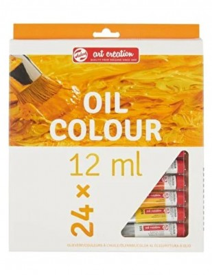ROYAL TALENS - Royal Talens Art Creation Oil Colours,Yağlı Boya Seti, 12 ml - 24 Renk