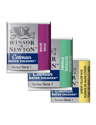 WINSOR & NEWTON - Winsor & Newton Cotman Suluboyalar - 1/2 Half Size Tablet