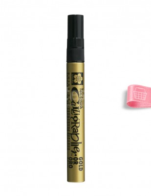 SAKURA - Sakura Pen-touch Calligrapher - Kaligrafi Kalemi - Gold - 5 mm