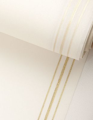 Satanet Cinsi Yöre Bezi Kumaşı - Altın Şeritli - En 40cm