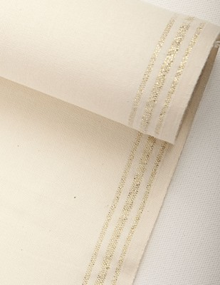 - Sayılabilir Yöre Bezi Kumaşı - Altın Şerit - En 40cm