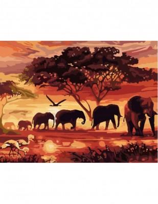- Sayılarla Tuval Boyama Seti - 40 x 50 cm - Filler ve Ağaç