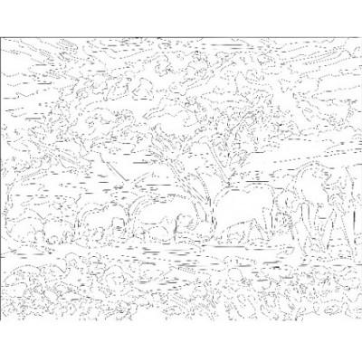 - Sayılarla Tuval Boyama Seti - 40 x 50 cm - Filler ve Ağaç (1)