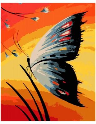 - Sayılarla Tuval Boyama Seti - 40 x 50 cm - Kelebek
