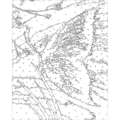 - Sayılarla Tuval Boyama Seti - 40 x 50 cm - Kelebek (1)