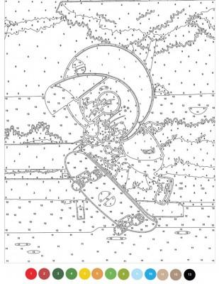 - Sayılarla Tuval Boyama Seti - 40 x 50 cm - Kral Şakir (1)