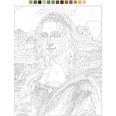 - Sayılarla Tuval Boyama Seti - 40 x 50 cm - Mona Lisa (1)