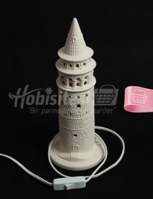 - Seramik Gece Lambası - Galata Kulesi - 30 cm