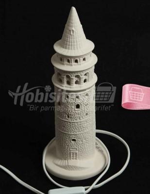 - Seramik Gece Lambası - Galata Kulesi - 36 cm