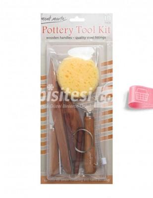 - Pottery Tool Kit, Seramik Modelleme Seti - 10 Adet