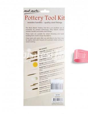 - Pottery Tool Kit, Seramik Modelleme Seti - 10 Adet (1)