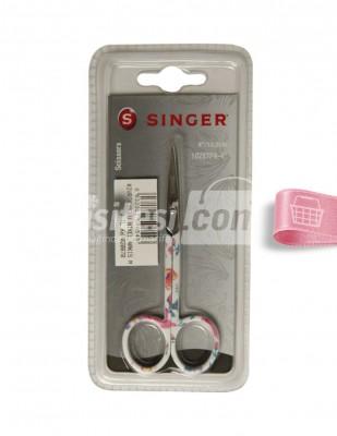 SINGER - Singer Nakış Makası, Kavisli Uç, Farklı Renkler ve Desenler - 10,2 cm