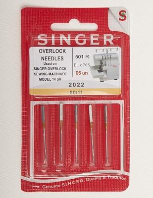 SINGER - Singer Overlok İğnesi 2022 - No: 11 - 5' li Paket