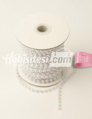 - Sıralı İnci - Çap 0,5 cm - Beyaz - 2 m