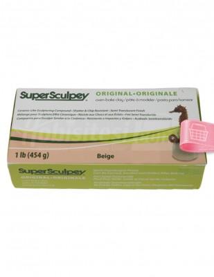 SUPER SCULPEY - Super Sculpey Fırınlanabilir Model Hamuru - 454 gr - Beige
