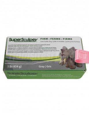 SUPER SCULPEY - Super Sculpey Fırınlanabilir Model Hamuru - 454 gr - Gray