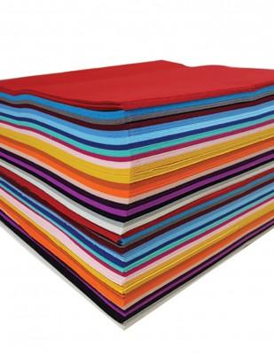 - Tabaka Keçe Kumaş, İnce Renkli, Hobi Keçe - 1 mm - 42 x 42 cm