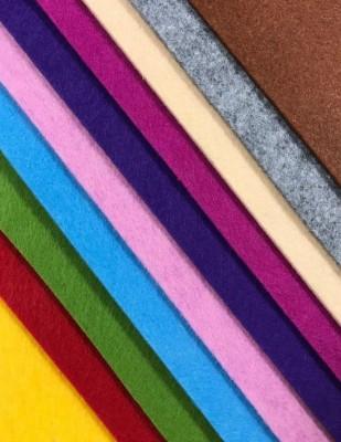 - Tabaka Keçe Kumaş, Kalın Renkli, Hobi Keçe - 3 mm 50 x 50 cm - 10 Adet Farklı Renk