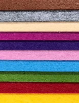 - Tabaka Keçe Kumaş, Kalın Renkli, Hobi Keçe - 3 mm 50 x 50 cm - 10 Adet Farklı Renk (1)