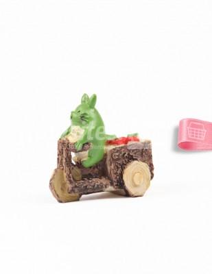 - Teraryum Malzemesi - Hamster - Yeşil - 4 x 4 cm - 16556